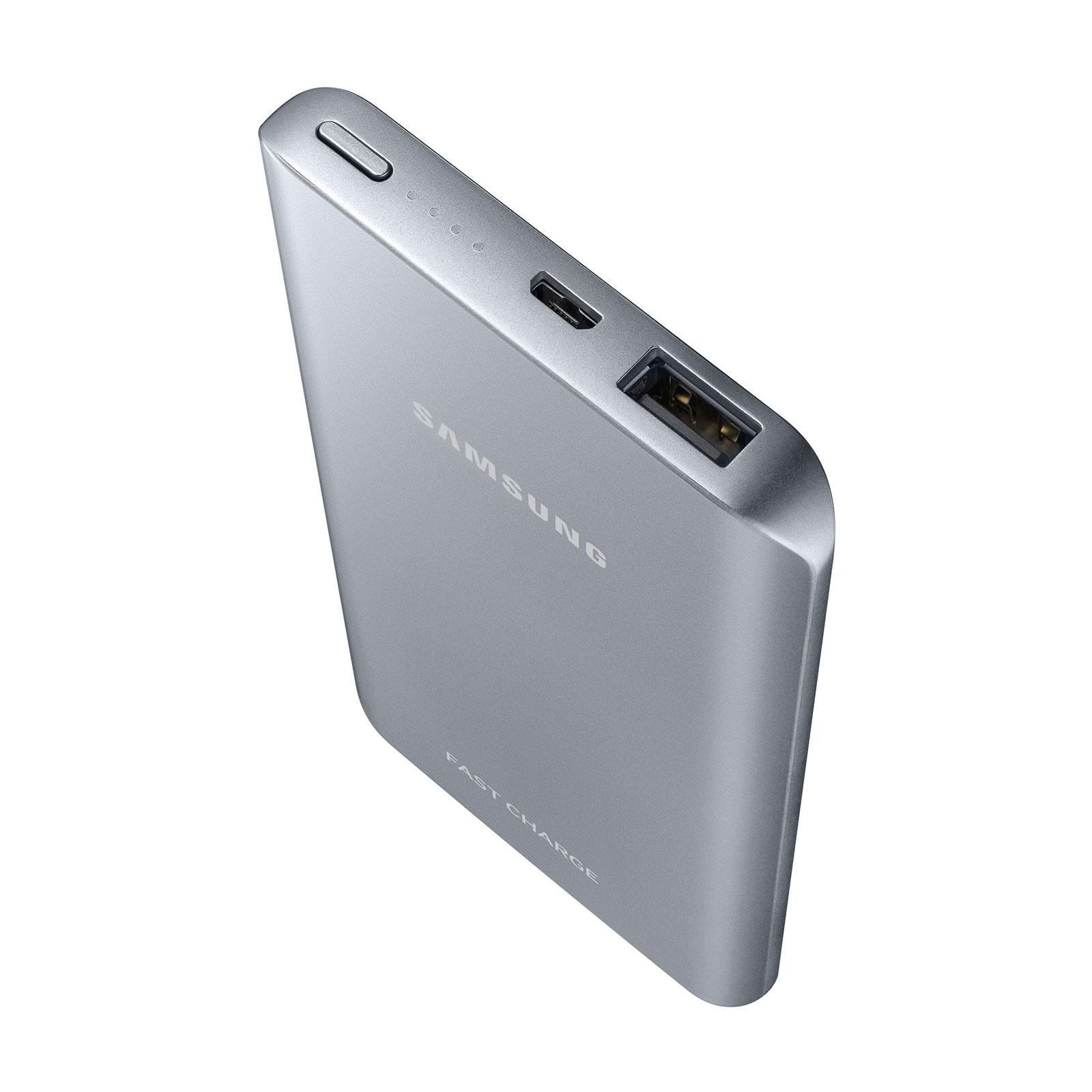 samsung powerbank fast charge argent batterie t l phone. Black Bedroom Furniture Sets. Home Design Ideas