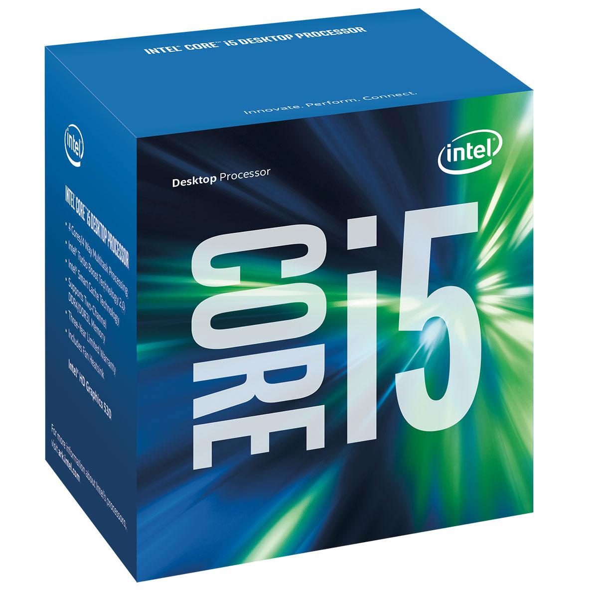 Processeur Intel Core i5-6600 (3.3 GHz) Processeur Quad Core Socket 1151 Cache L3 6 Mo Intel HD Graphics 530 0.014 micron (version boîte - garantie Intel 3 ans)