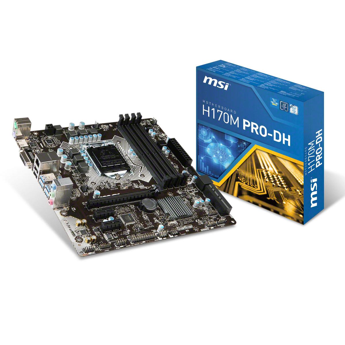 MSI H170M PRO-DH - Carte mère MSI sur LDLC.com