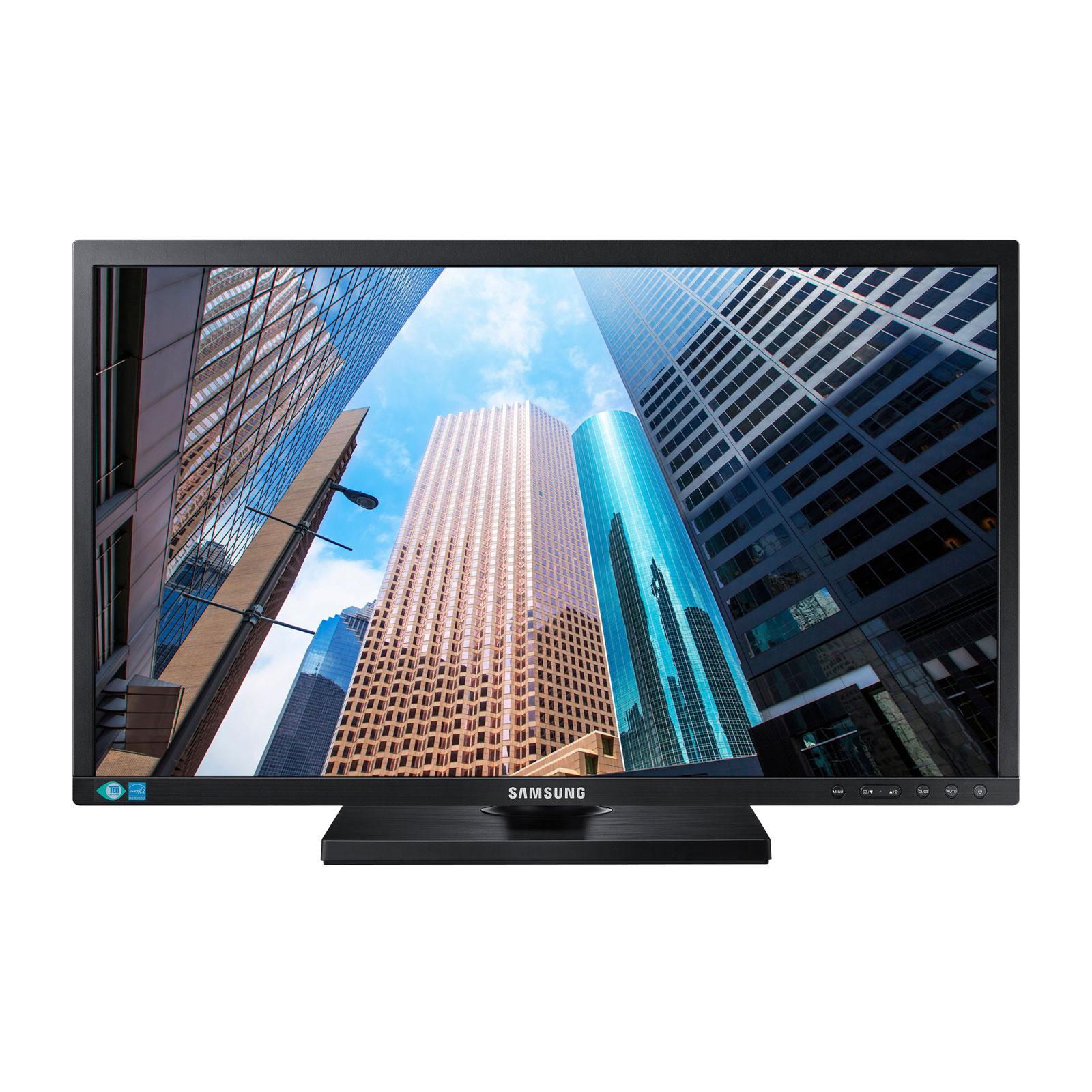"""Ecran PC Samsung 23.6"""" LED - S24E650PLC 1920 x 1080 pixels - 4 ms - Format large 16/9 - Pivot - Dalle PLS - DisplayPort - HDMI - Noir + Câble DP inclus (garantie 3 ans constructeur)"""