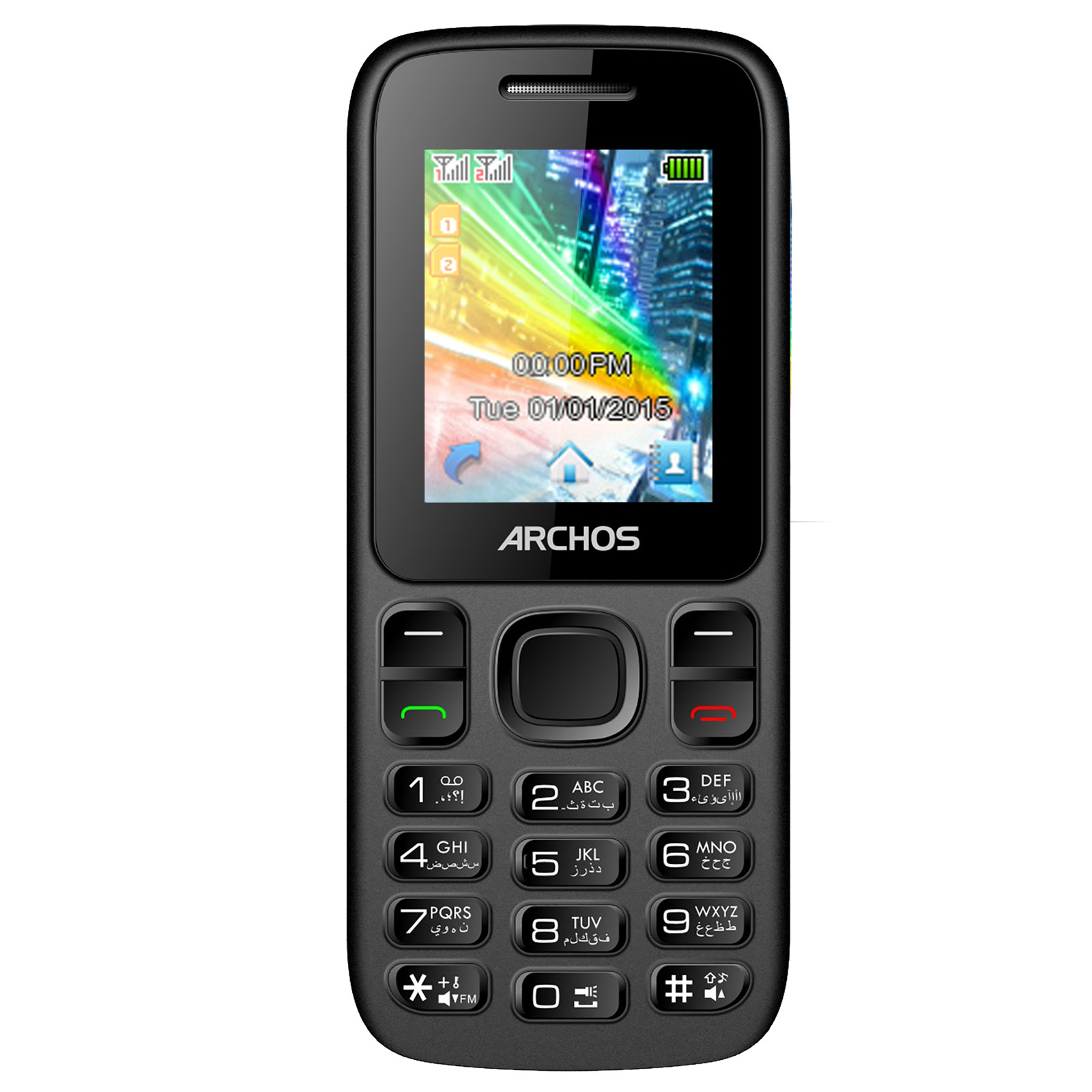 archos f18 noir mobile smartphone archos sur. Black Bedroom Furniture Sets. Home Design Ideas