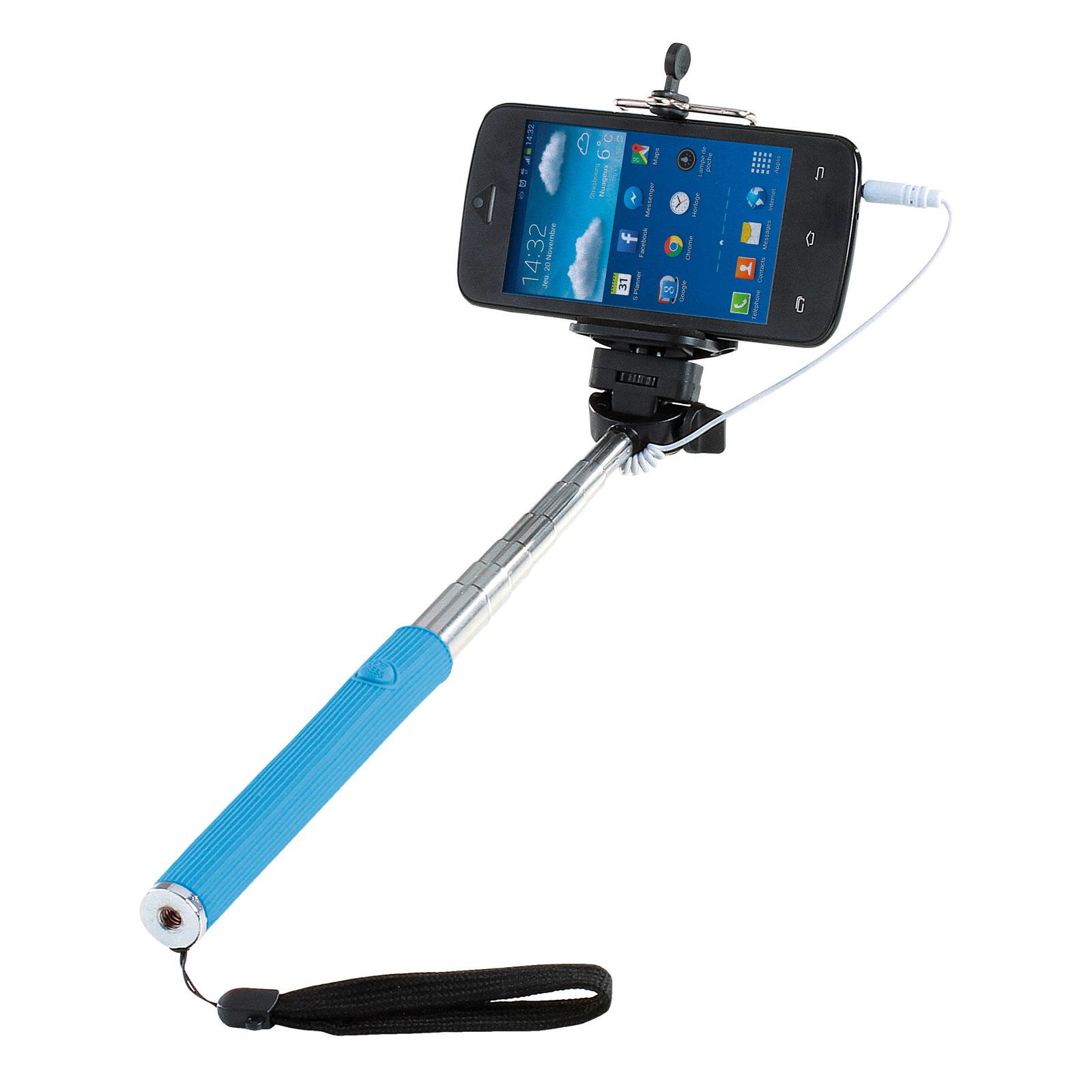 Perche à selfie Télescopique Noir Bleu XFr7iHp6