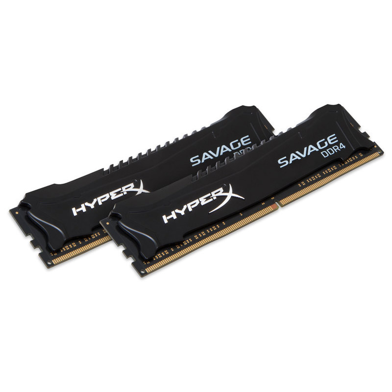 Mémoire PC HyperX Savage Noir 16 Go (2x 8 Go) DDR4 3000 MHz CL15 Kit Dual Channel 2 barrettes de RAM DDR4 PC4-24000 - HX430C15SB2K2/16 (garantie 10 ans par Kingston)