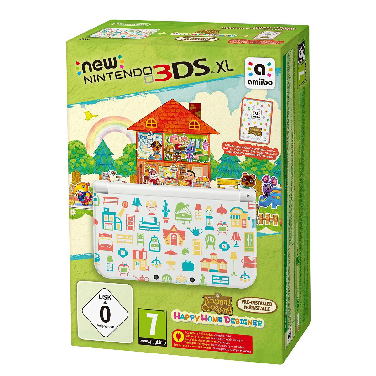 nintendo new 3ds xl blanche animal crossing happy home designer console nintendo 3ds. Black Bedroom Furniture Sets. Home Design Ideas