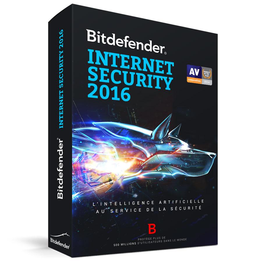 Bitdefender Internet Security 2016 Licence 1 An 3 Postes