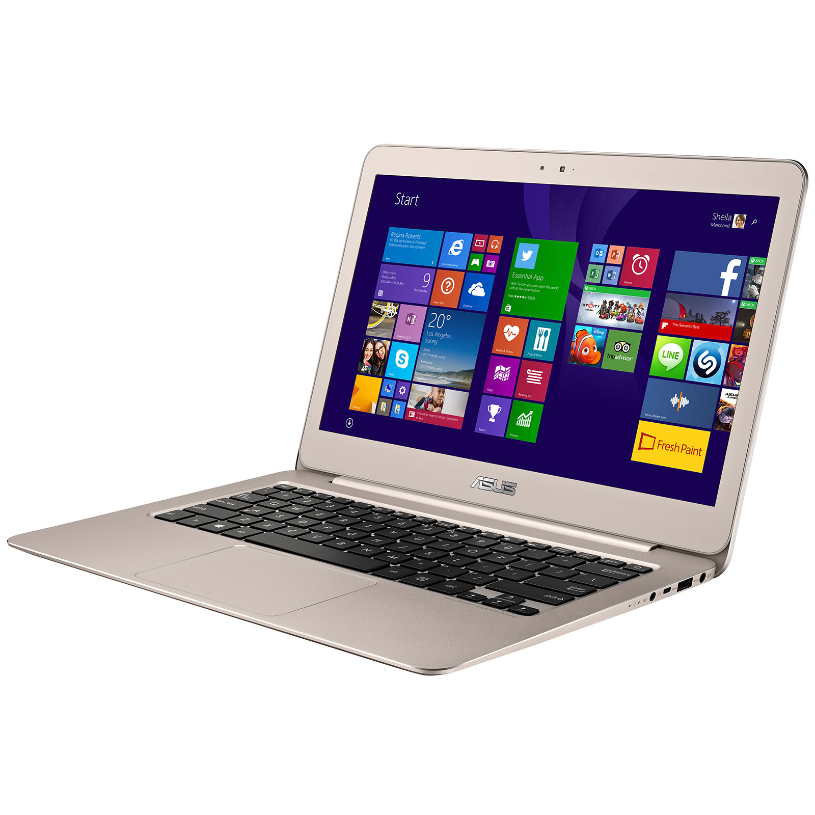 asus zenbook ux305fa fc133t gold pc portable asus sur. Black Bedroom Furniture Sets. Home Design Ideas