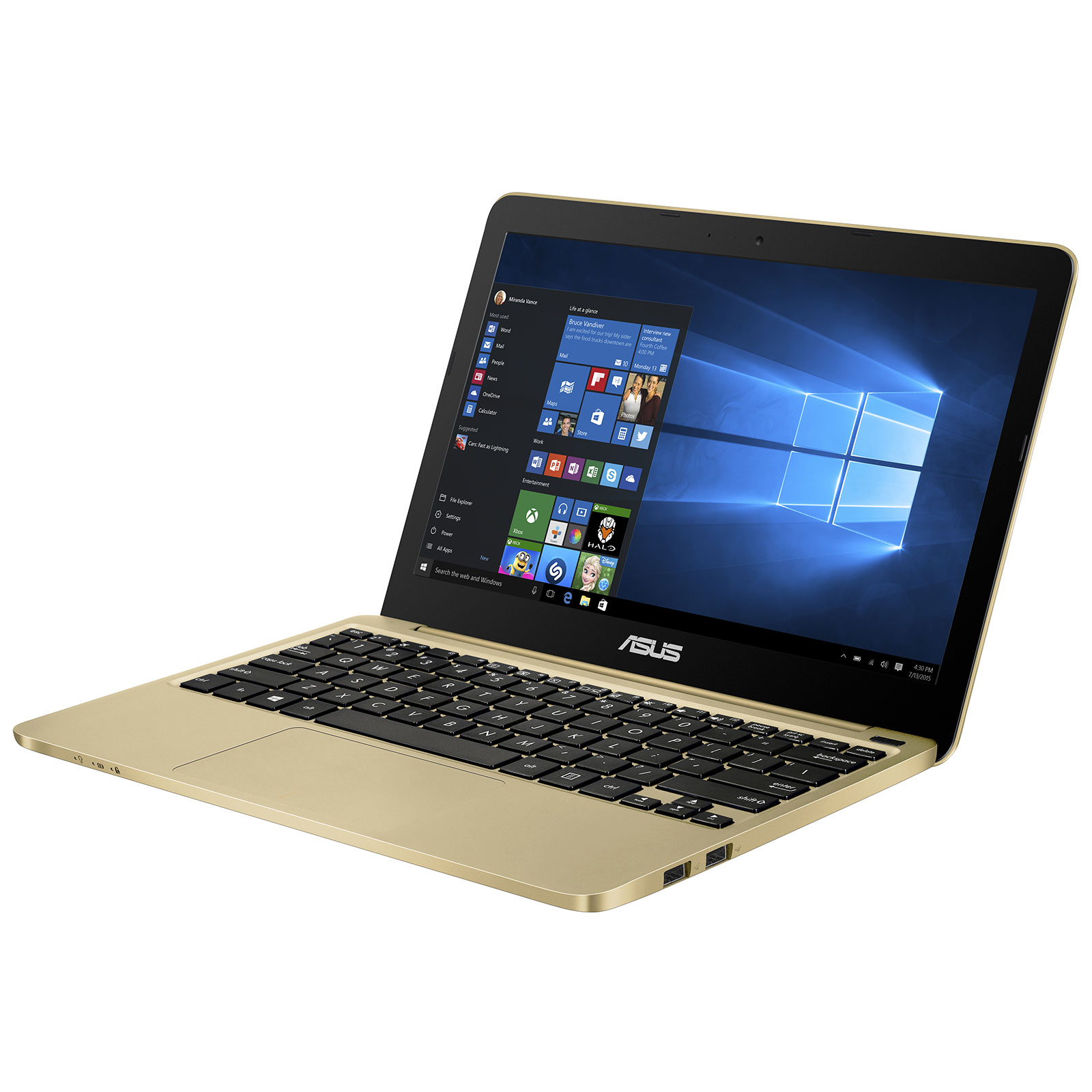 asus eeebook x205ta fd0076ts gold pc portable asus sur. Black Bedroom Furniture Sets. Home Design Ideas