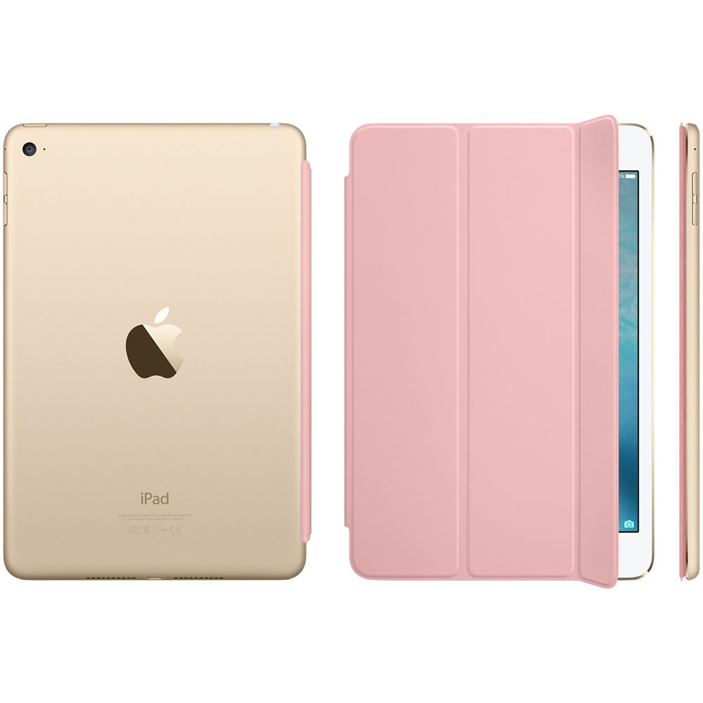 apple ipad mini 4 smart cover rose etui tablette apple sur. Black Bedroom Furniture Sets. Home Design Ideas