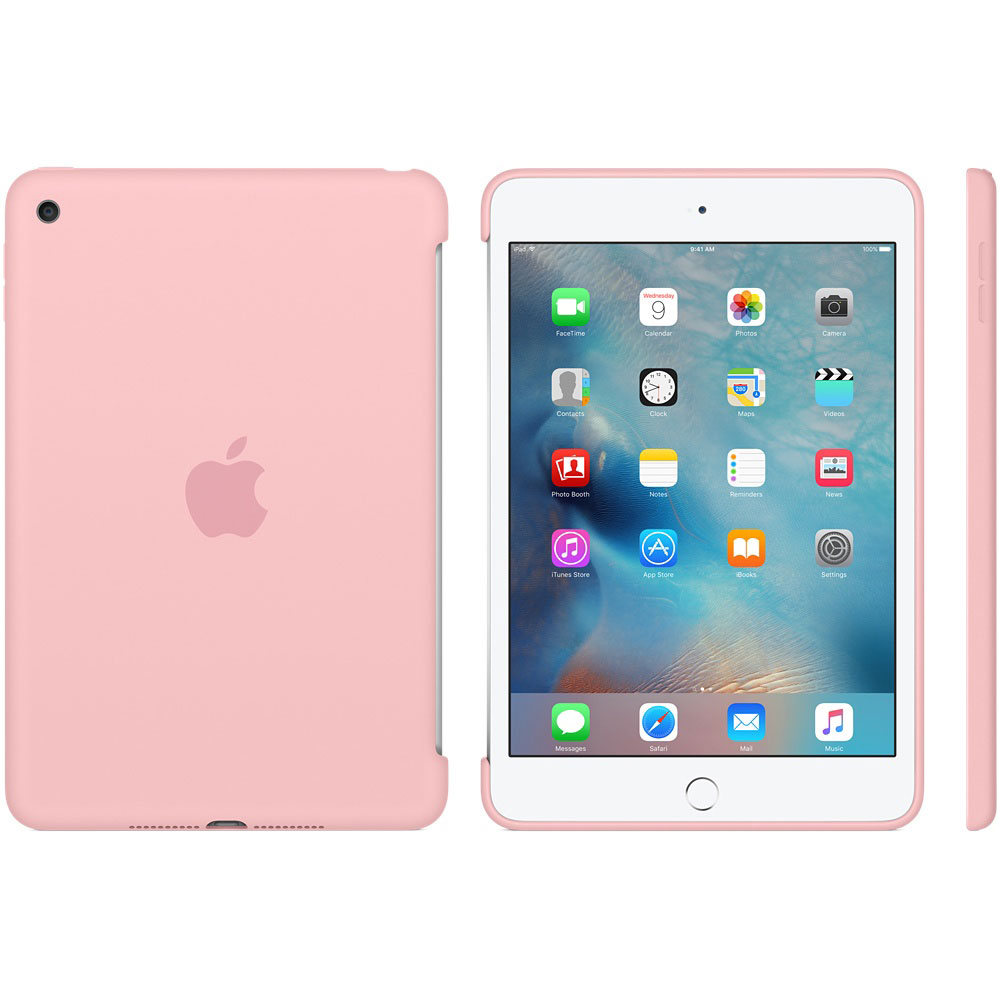 apple ipad mini 4 silicone case rose etui tablette apple. Black Bedroom Furniture Sets. Home Design Ideas