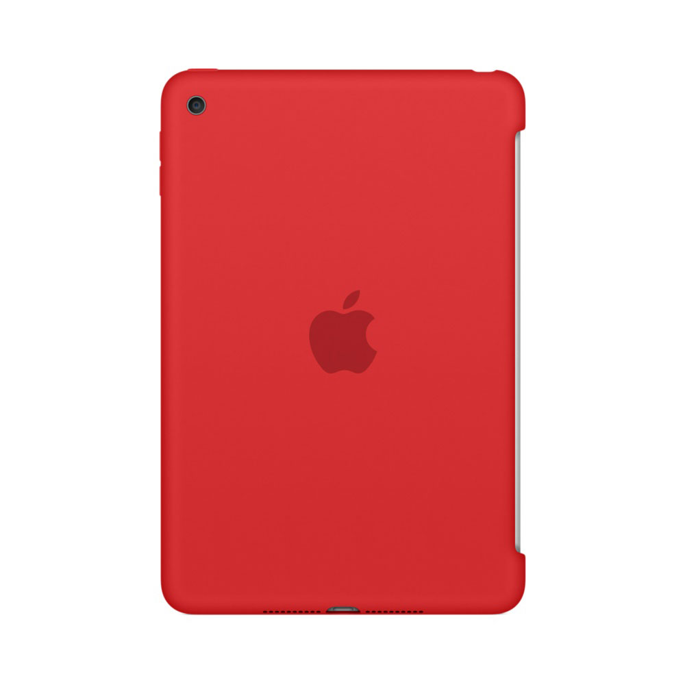 apple ipad mini 4 silicone case rouge etui tablette apple sur. Black Bedroom Furniture Sets. Home Design Ideas