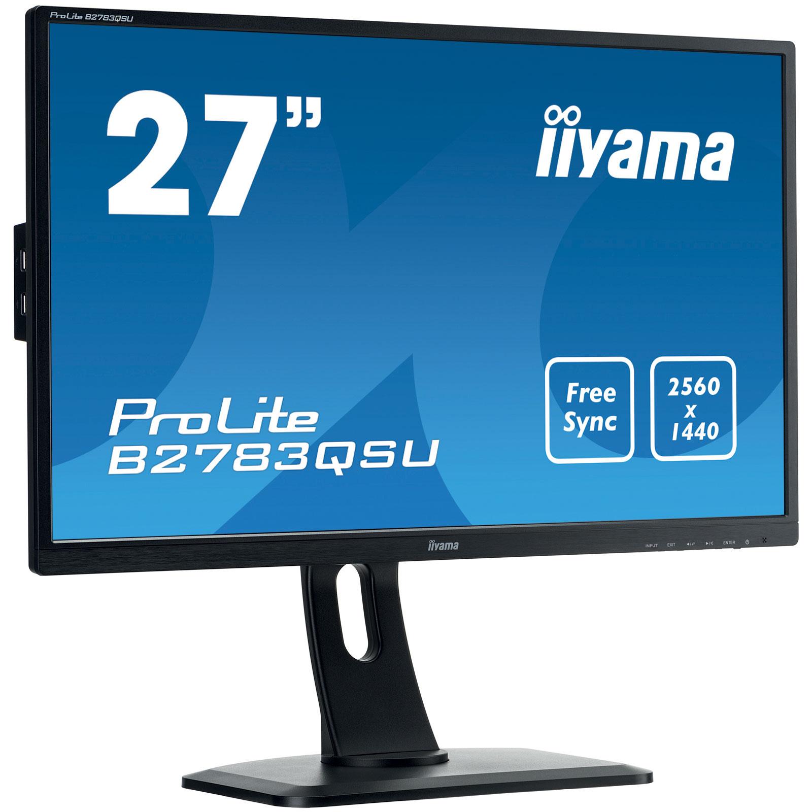 Iiyama 27 led prolite b2783qsu b1 ecran pc iiyama sur for Ecran pc son