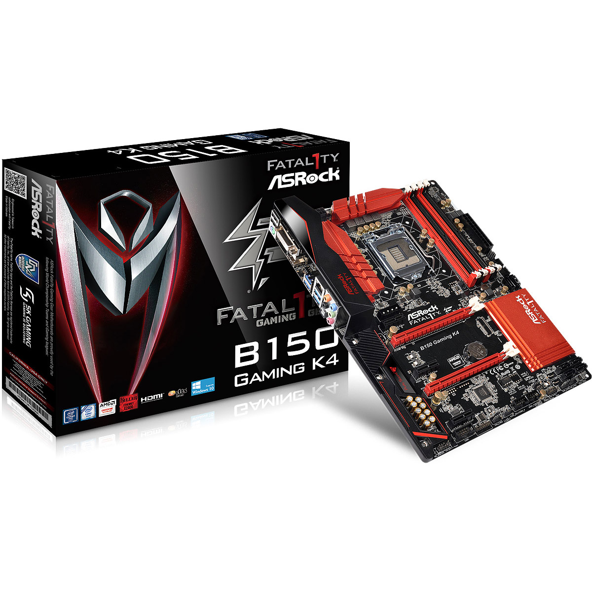 Carte mère ASRock Fatal1ty B150 Gaming K4 Carte mère ATX Socket 1151 Intel B150 Express - SATA 6Gb/s - USB 3.0 - 2x PCI-Express 3.0 16x