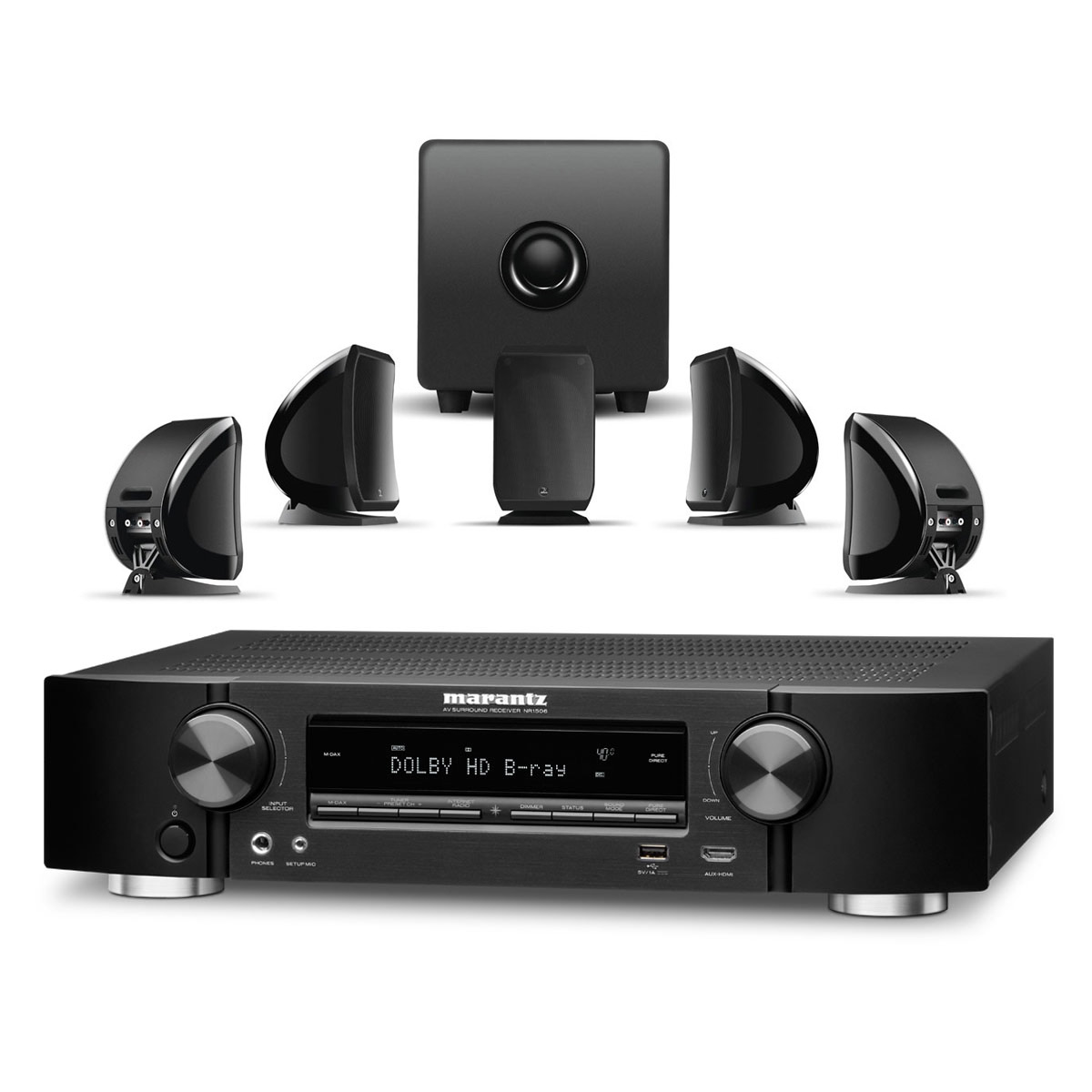 marantz nr1506 noir focal sib cub ensemble home. Black Bedroom Furniture Sets. Home Design Ideas