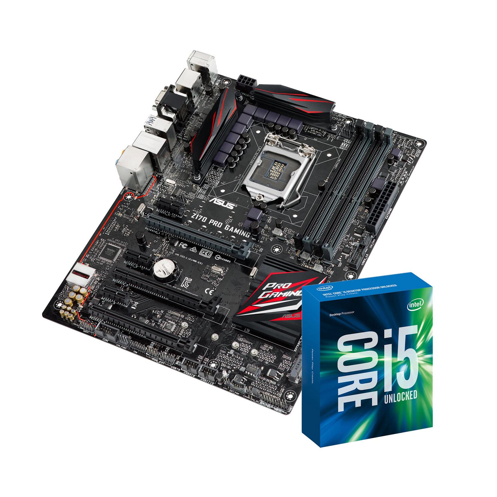 intel core i5 6600k 3 5 ghz asus z170 pro gaming. Black Bedroom Furniture Sets. Home Design Ideas