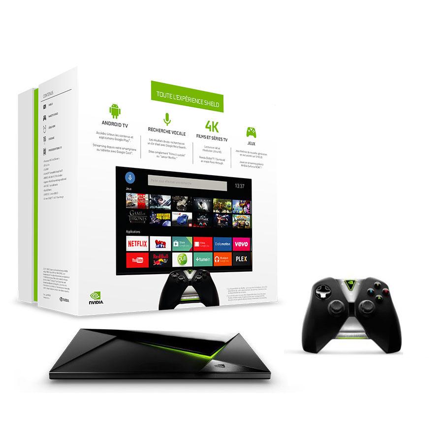 Lecteur multimédia NVIDIA SHIELD Android TV 16 Go (2015) Lecteur multimédia 4K - Console de jeux avec processeur NVIDIA Tegra X1