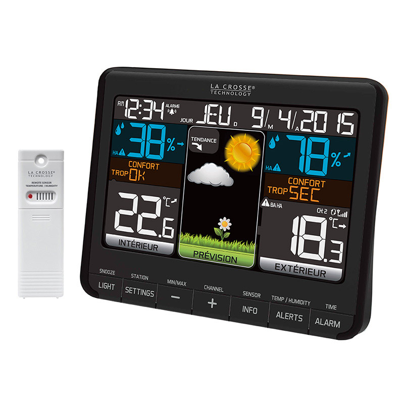 La crosse technology ws6825 bla station m t o la crosse for Station meteo temperature interieure et exterieure