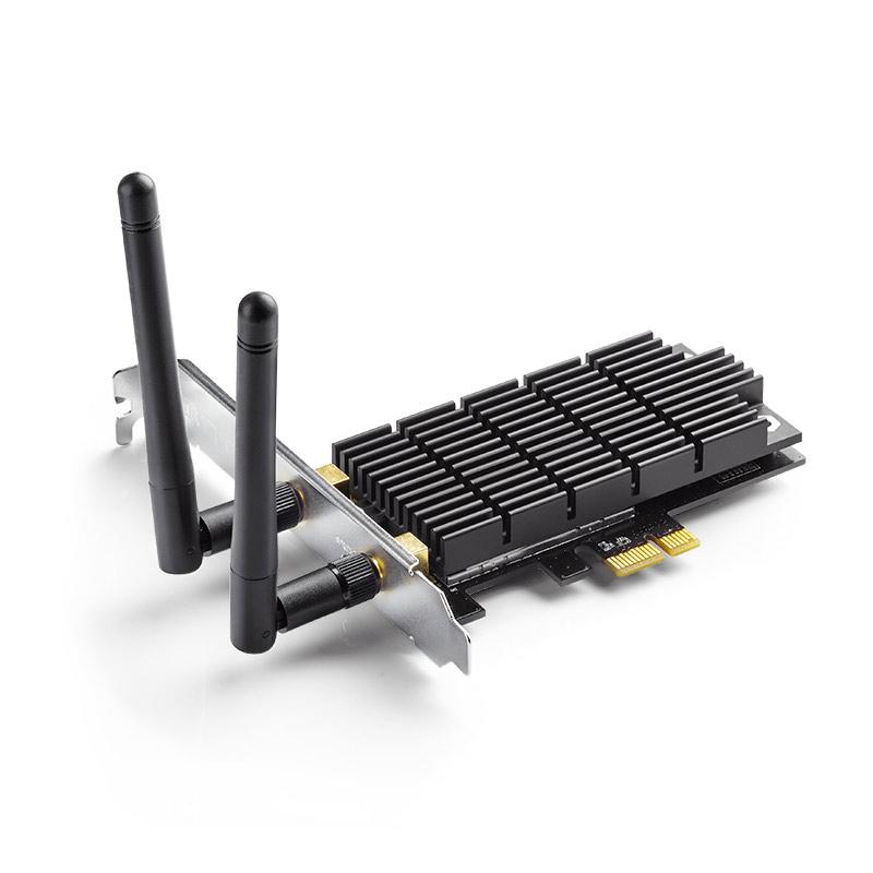 Carte réseau TP-Link Archer T6E Adaptateur PCIe Wi-Fi double bande AC1300 (N400 + AC900)