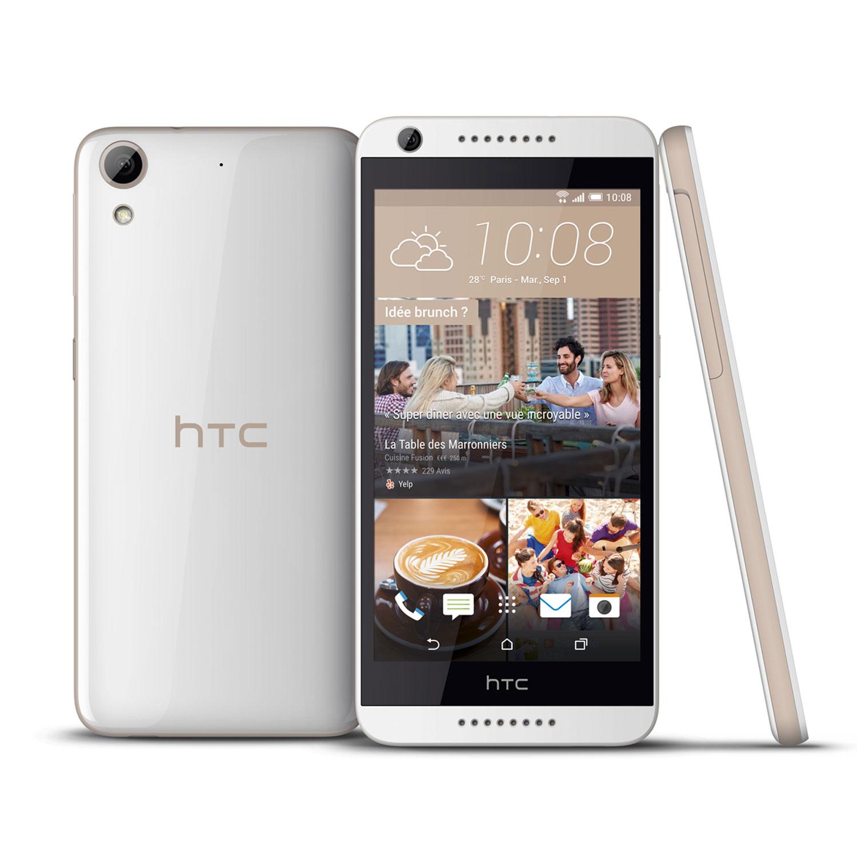 "Mobile & smartphone HTC Desire 626 Blanc Smartphone 4G-LTE - Snapdragon 410 Quad-Core 1.2 Ghz - RAM 2 Go - Ecran tactile 5"" 720 x 1280 - 16 Go - NFC/Bluetooth 4.0 - 2000 mAh - Android 5.1"