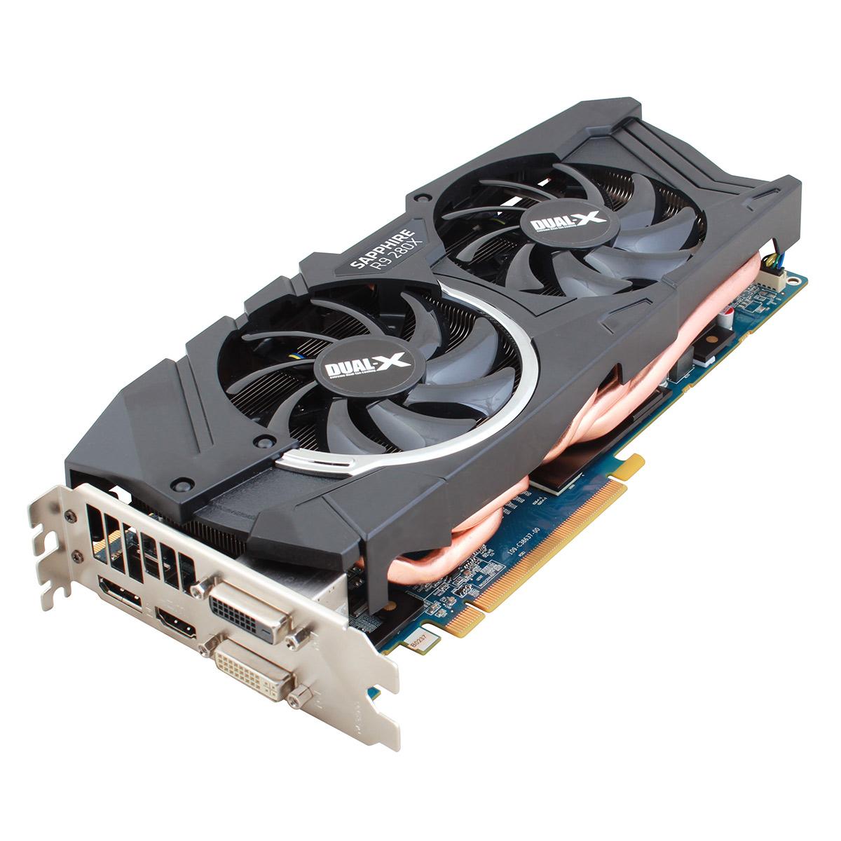 Carte graphique Sapphire Radeon R9 280X 3G GDDR5 Lite RF 3 Go Dual DVI/HDMI/DisplayPort - PCI Express (AMD Radeon R9 280X) - (Produit reconditionné - Etat neuf - Garantie 1 an)