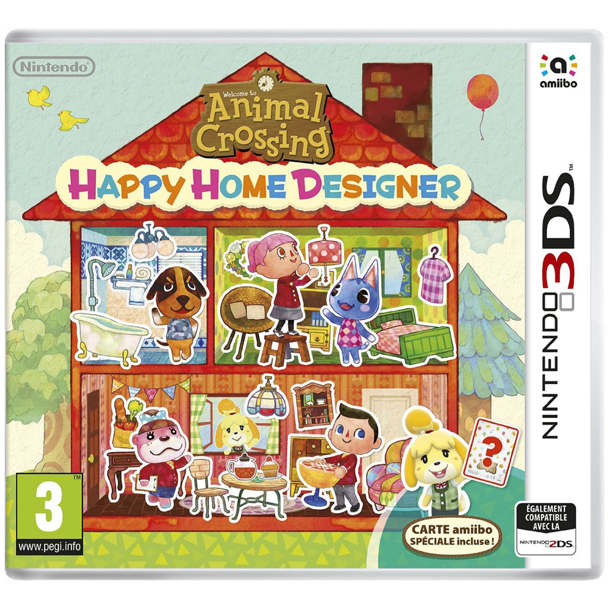 Animal Crossing : Happy Home Designer + 1 Carte Amiibo