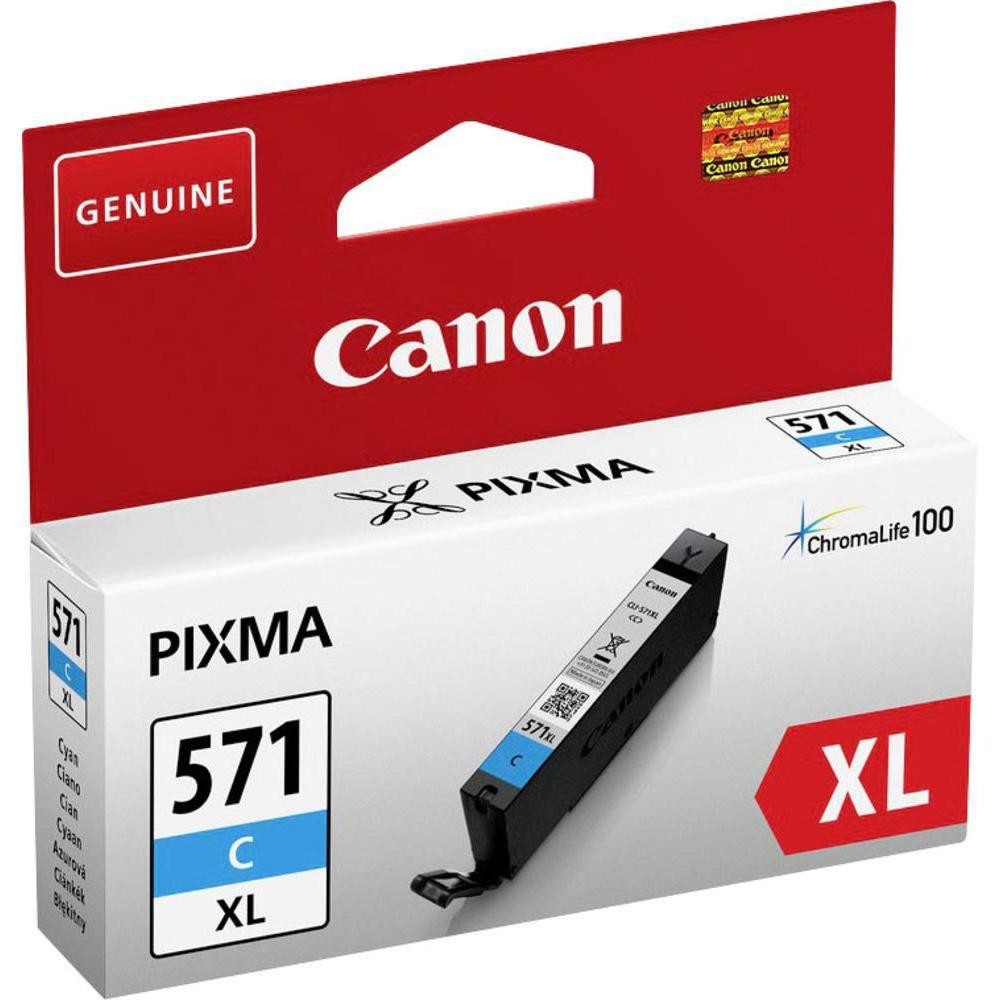 Cartouche imprimante Canon CLI-571C XL Cartouche d'encre Cyan à haut rendement