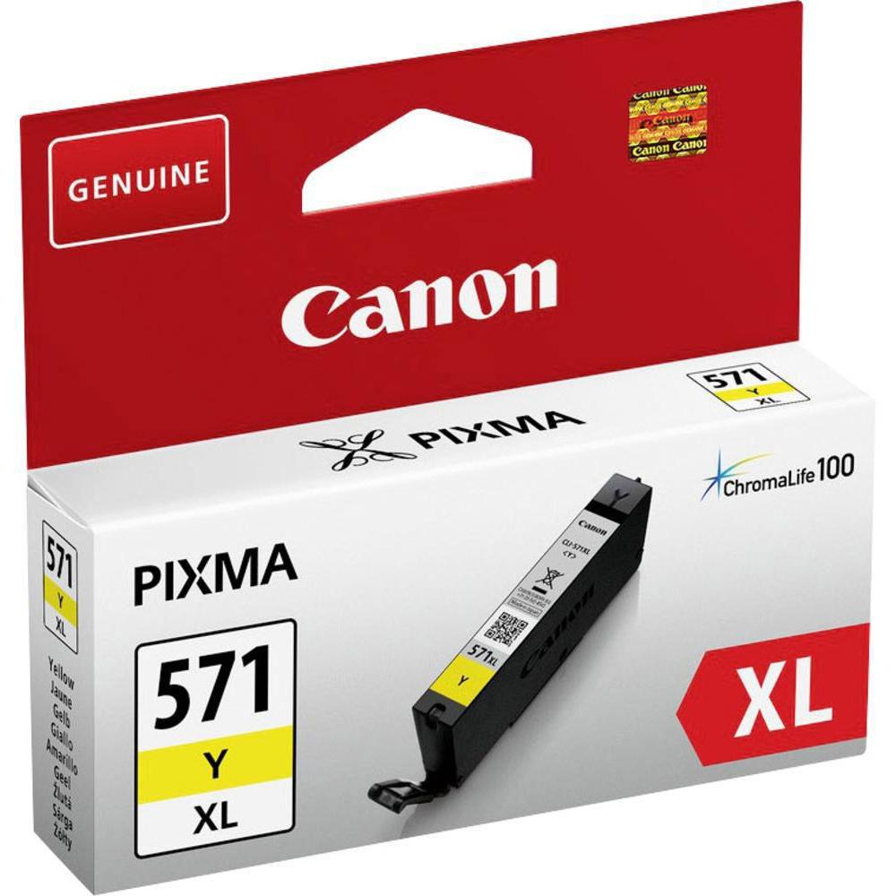Cartouche imprimante Canon CLI-571Y XL Cartouche d'encre Jaune à haut rendement
