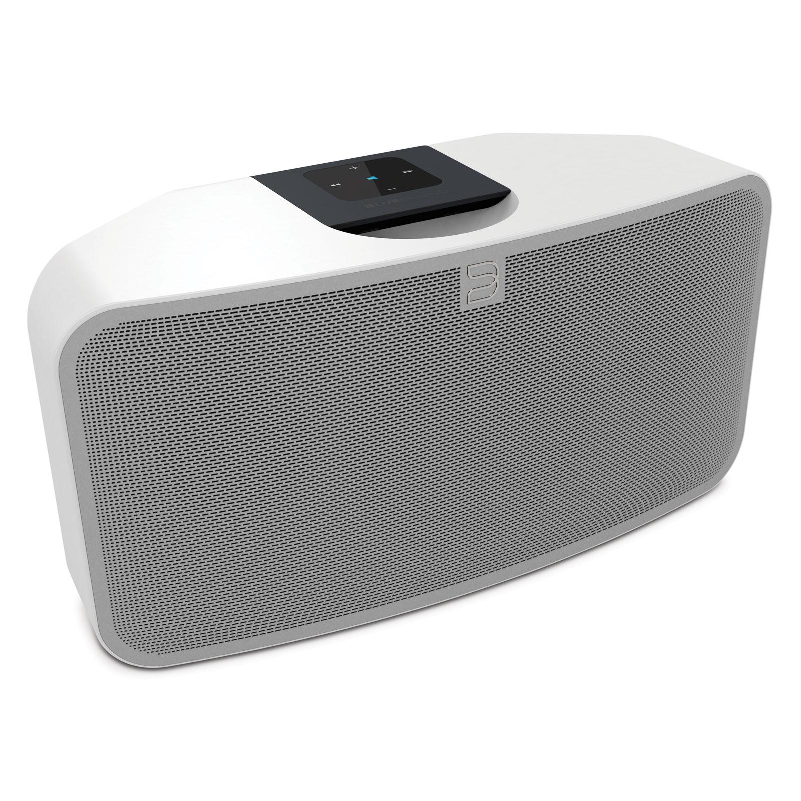 Dock & Enceinte Bluetooth Bluesound Pulse Mini Blanc Système audio multiroom avec Wi-Fi, Bluetooth pour Streaming audio et Web radio compatible Hi-Res Audio