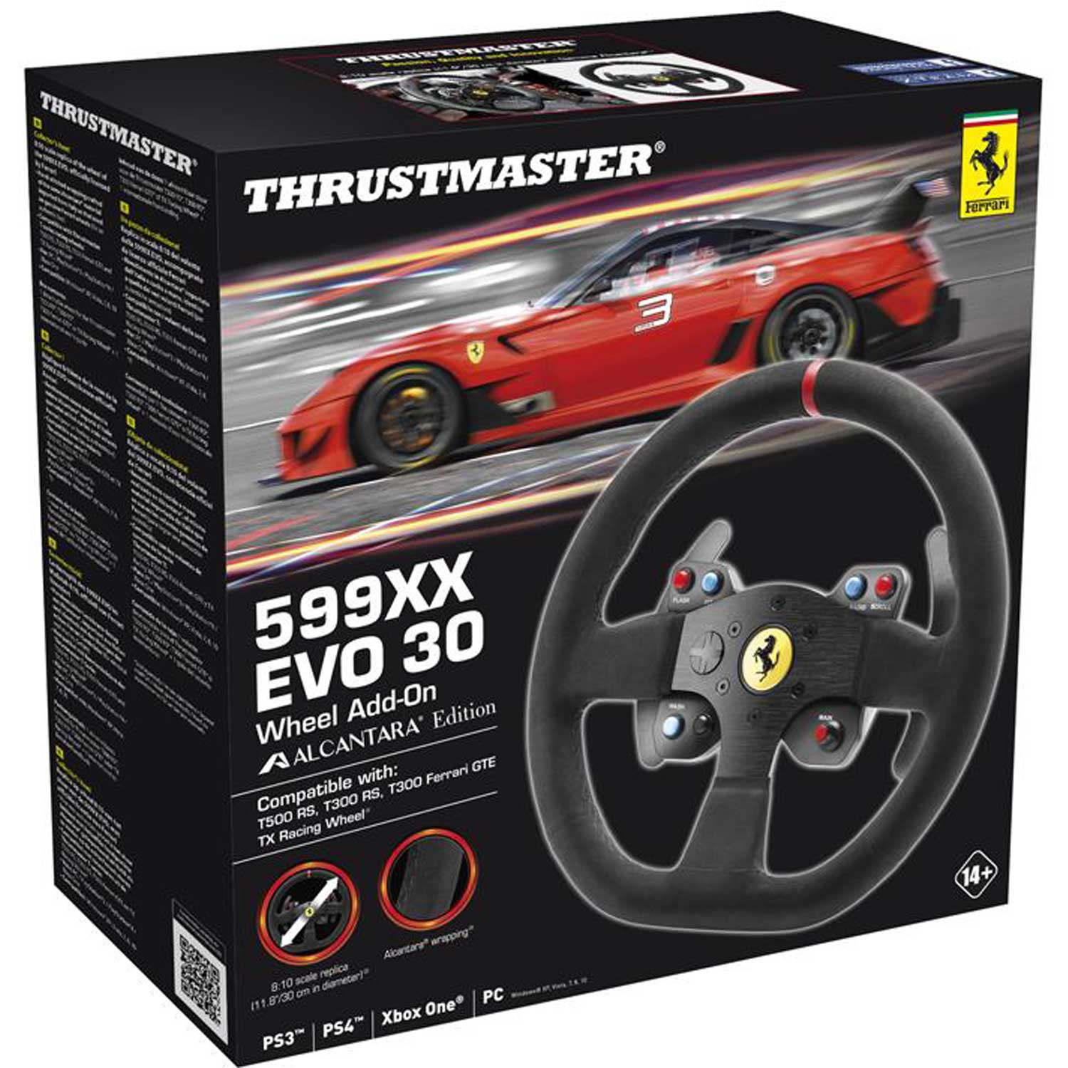 thrustmaster 599xx evo 30 wheel add on alcantara edition volant pc thrustmaster sur. Black Bedroom Furniture Sets. Home Design Ideas