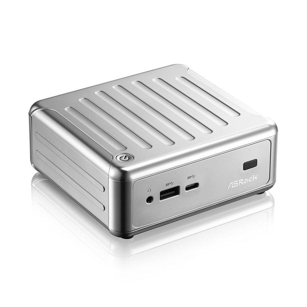 PC de bureau ASRock Beebox N3150-2G32SW10/S Argent Intel Celeron N3150 2 Go eMMC 32 Go Wi-Fi AC / Bluetooth (sans écran)