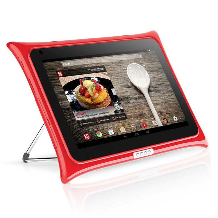 qooq v4 16 go rouge tablette tactile qooq sur. Black Bedroom Furniture Sets. Home Design Ideas