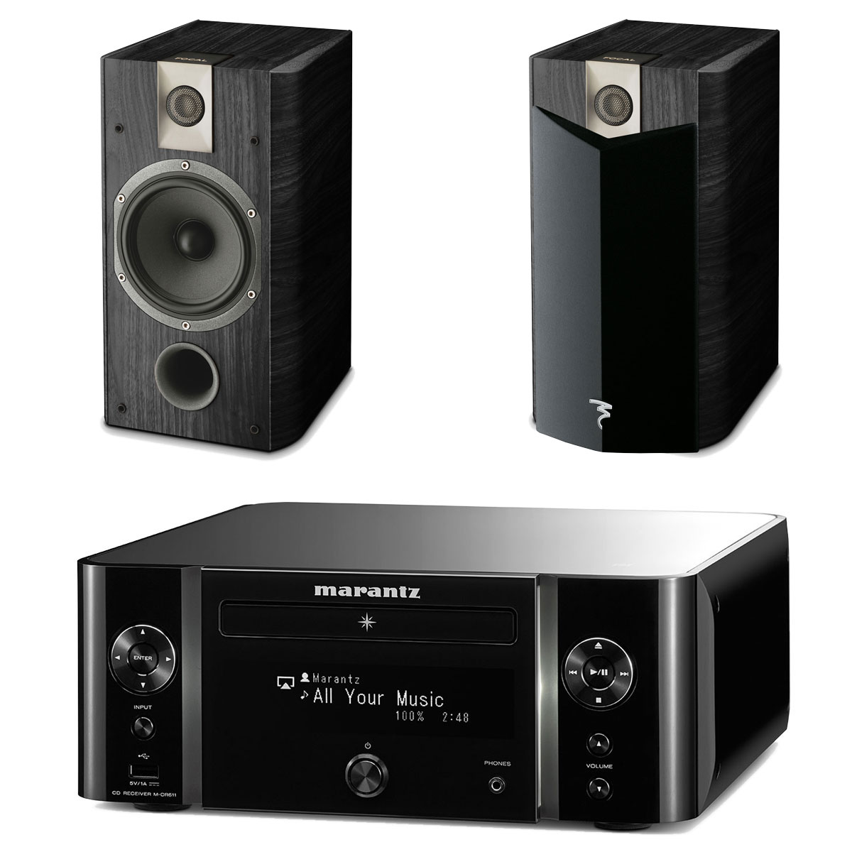 marantz melody stream m cr611 focal chorus 706 v2 cha ne hifi marantz sur. Black Bedroom Furniture Sets. Home Design Ideas