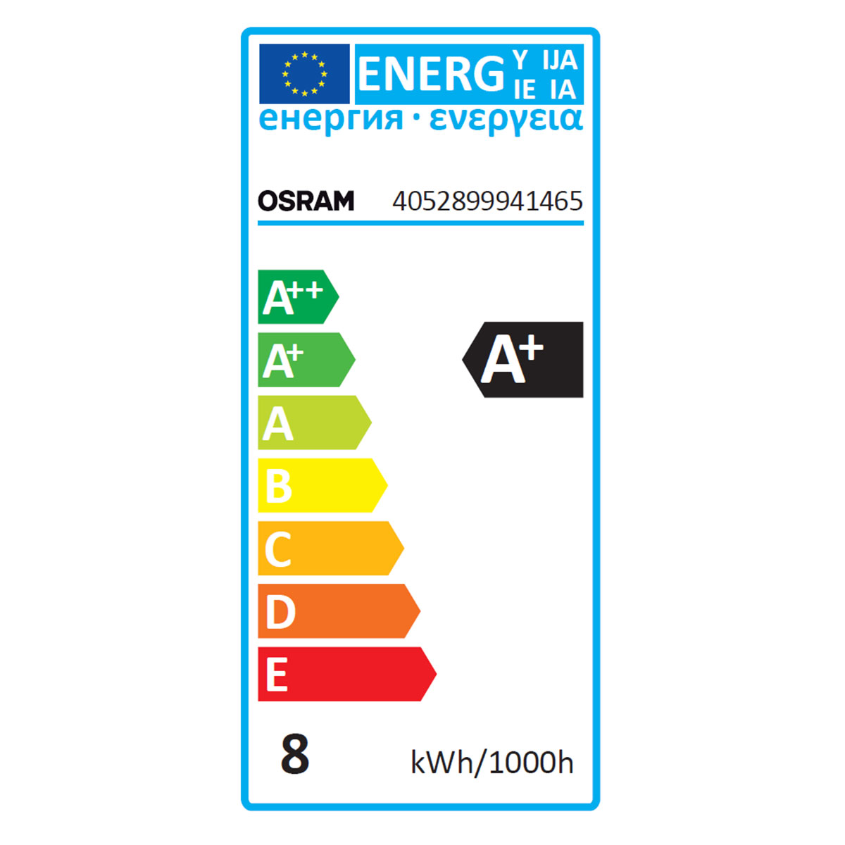 Osram Ampoule Led Retrofit Standard E27 4w 40w A: OSRAM Ampoule LED Retrofit Standard E27 8W (60W) A