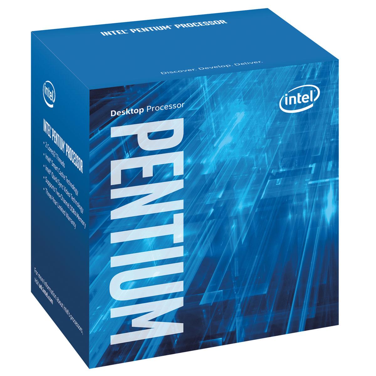 Processeur Intel Pentium G4400 (3.3 GHz) Processeur Dual Core Socket 1151 Cache L3 3 Mo Intel HD Graphics 510 0.014 micron (version boîte - garantie Intel 3 ans)