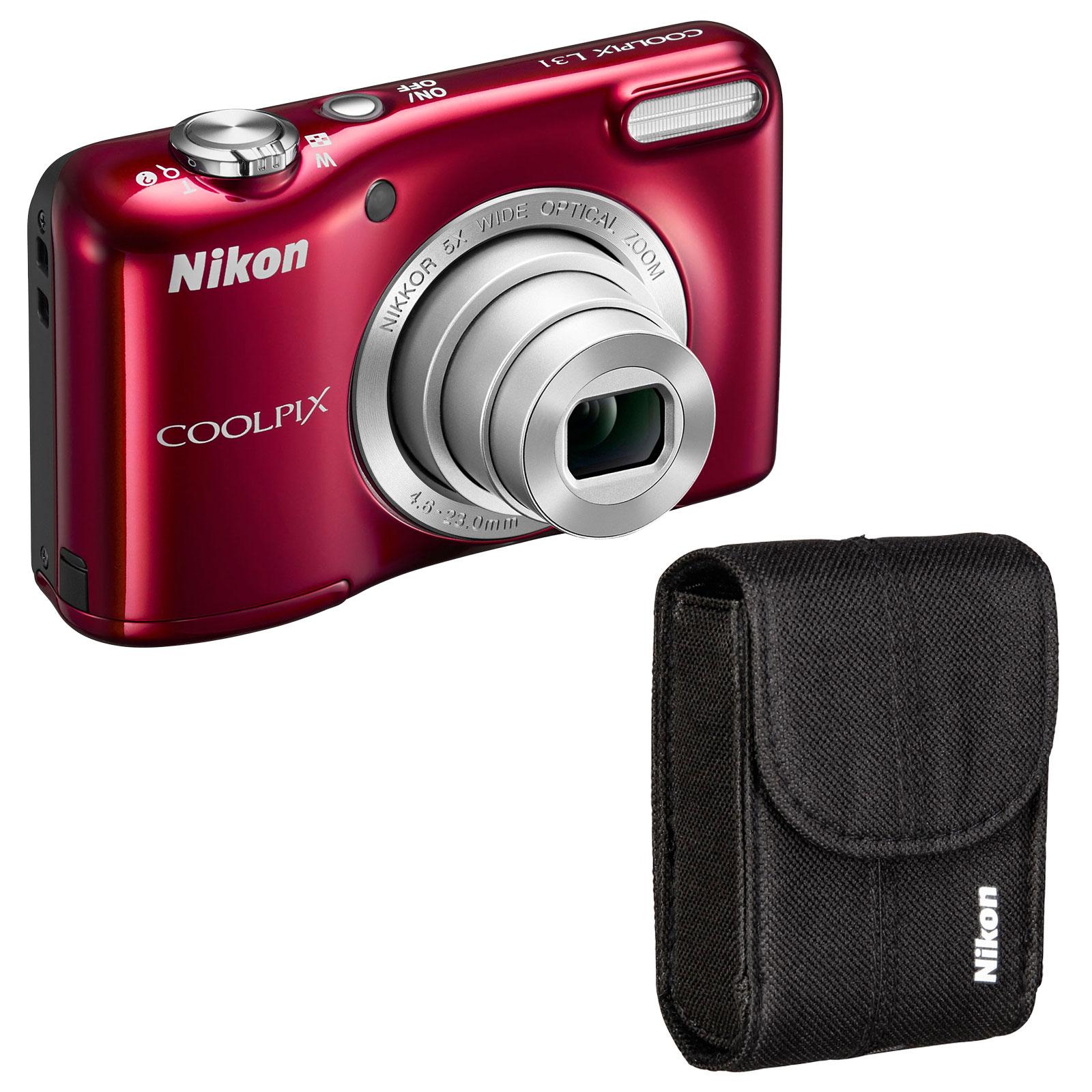 nikon coolpix l31 kit rouge appareil photo num rique nikon sur. Black Bedroom Furniture Sets. Home Design Ideas