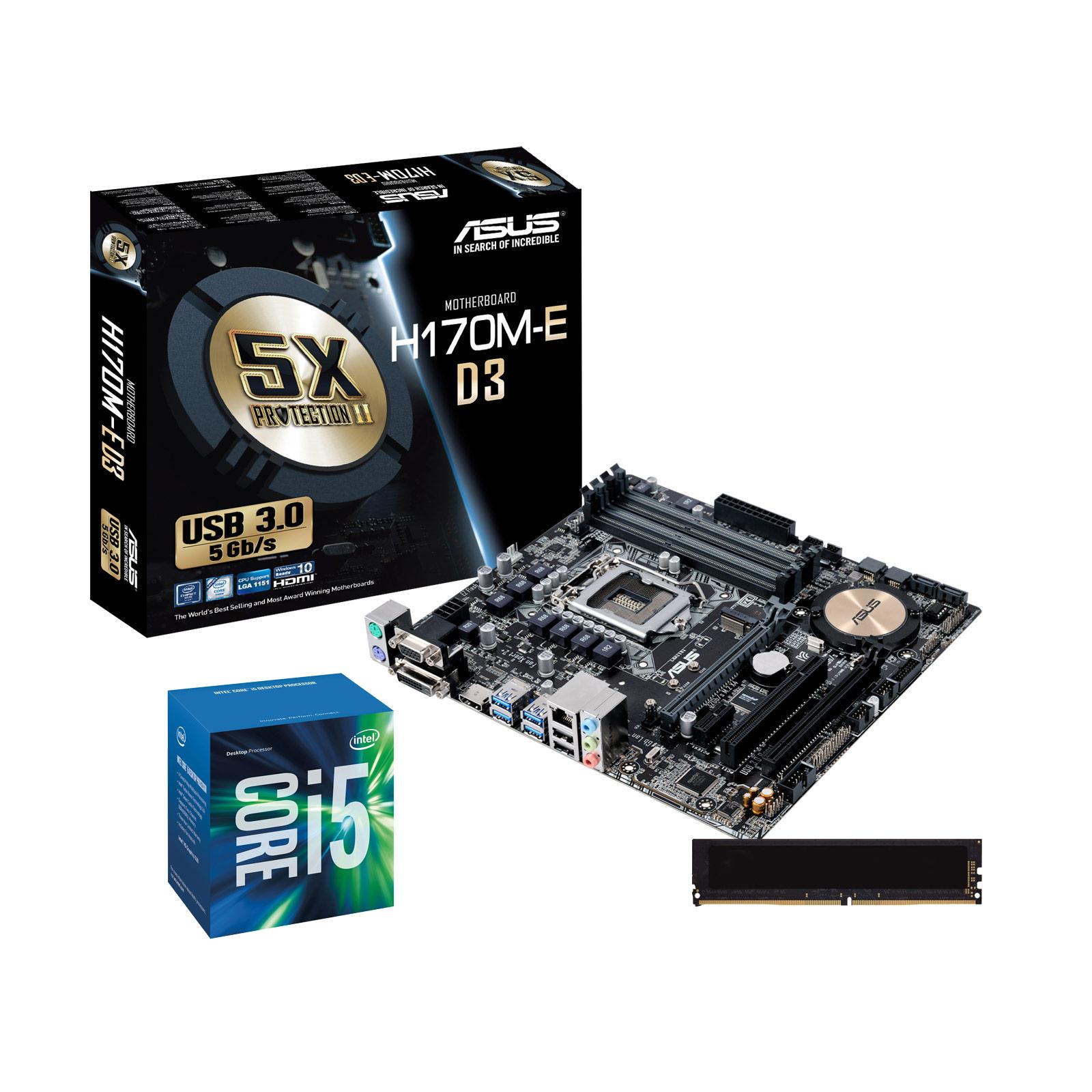 Kit Upgrade PC Core i5 ASUS H170M-E D3 4 Go - Kit upgrade ...