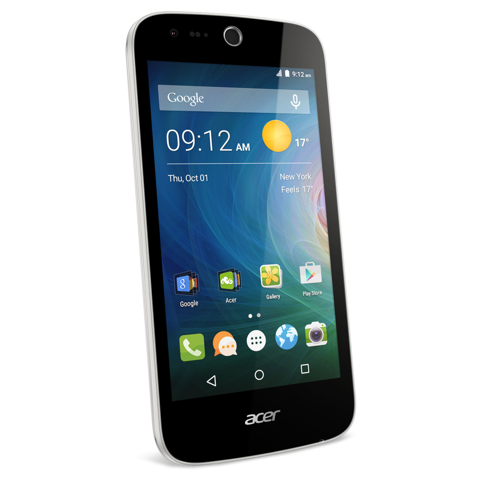 "Mobile & smartphone Acer Liquid Z330 Blanc Smartphone 4G-LTE Dual SIM - ARM Cortex A7 Quad-Core 1.1 GHz - RAM 1 Go - Ecran tactile 4.5"" 480 x 854 - 8 Go - Bluetooth 4.0 - 2000 mAh - Android 5.0"
