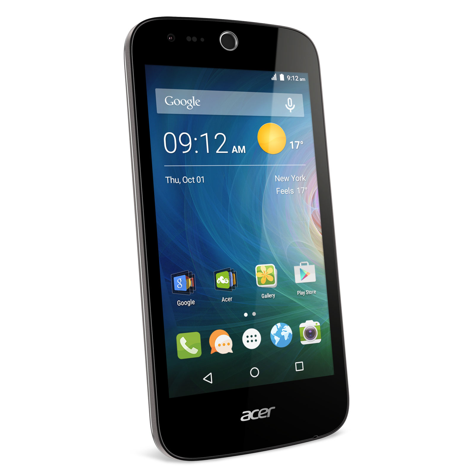 acer liquid z330 noir mobile smartphone acer sur. Black Bedroom Furniture Sets. Home Design Ideas