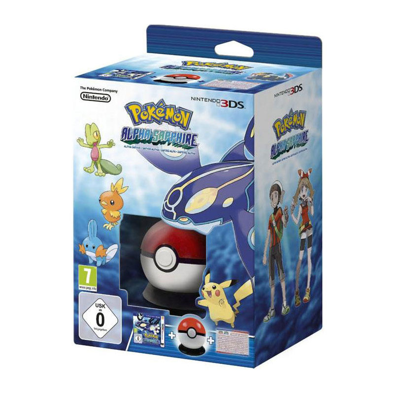 Pok mon saphir alpha pokeball poster nintendo 3ds for Housse 2ds pokemon