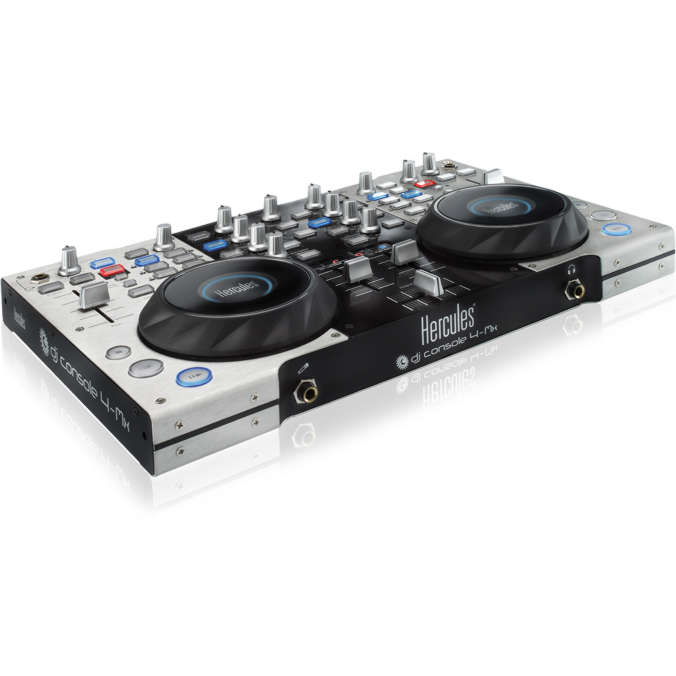 hercules dj console 4 mx table de mixage hercules sur. Black Bedroom Furniture Sets. Home Design Ideas