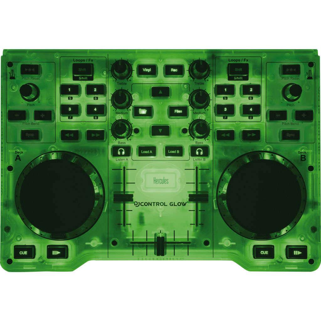 Hercules djcontrol glow table de mixage hercules sur - Logiciel table de mixage dj gratuit francais ...
