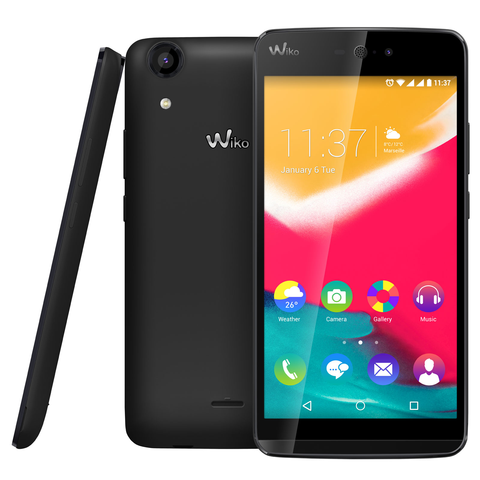 wiko rainbow jam 4g noir mobile smartphone wiko sur ldlc. Black Bedroom Furniture Sets. Home Design Ideas