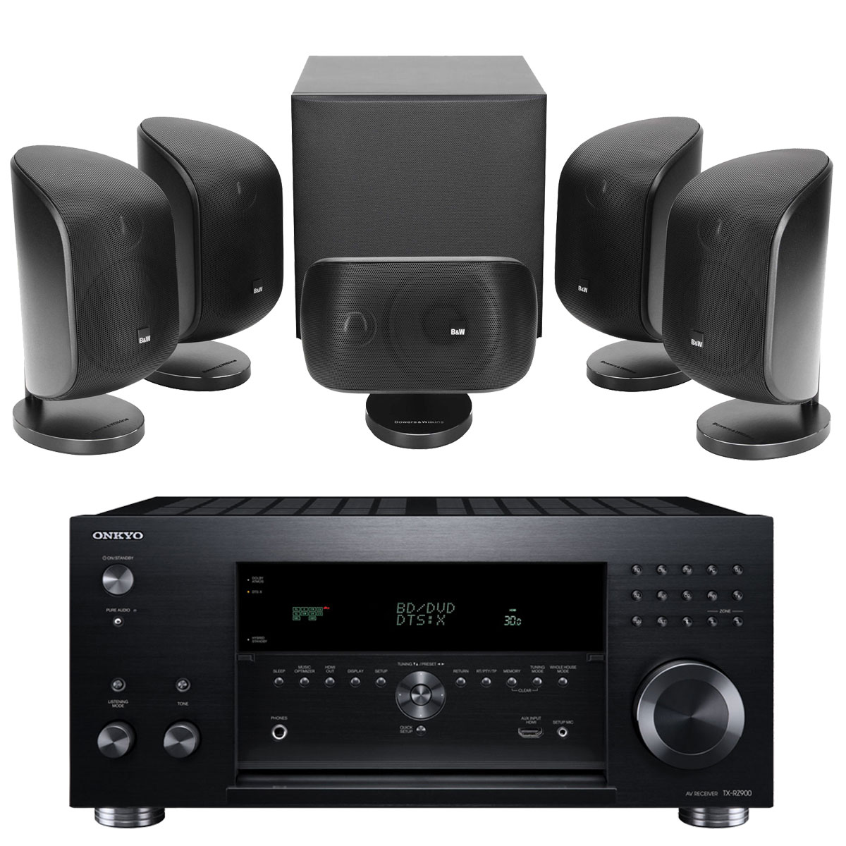 onkyo tx rz900 noir b w mt 50 noir ensemble home cin ma onkyo sur. Black Bedroom Furniture Sets. Home Design Ideas