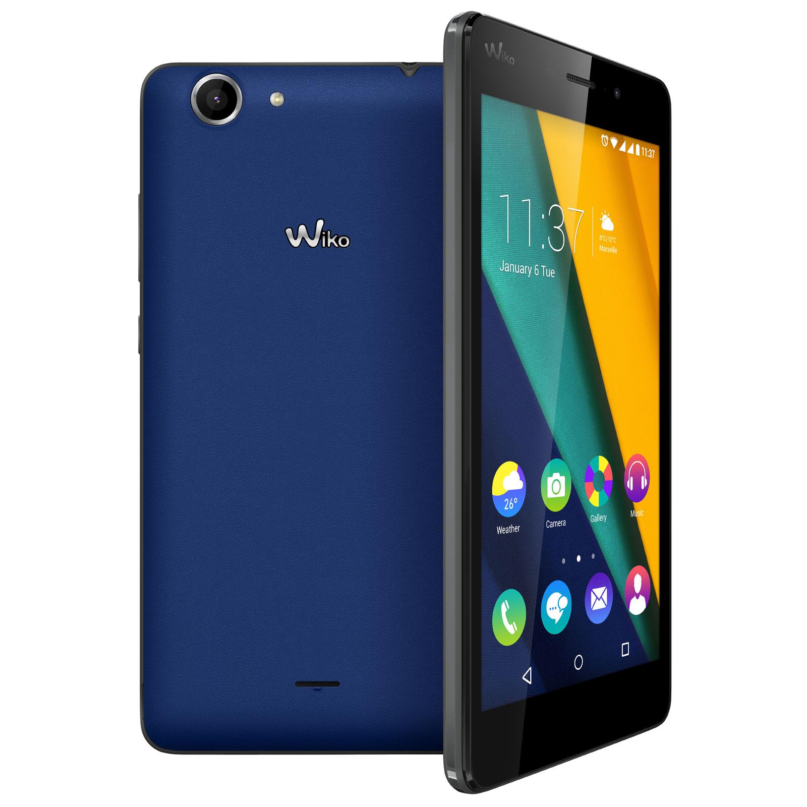 Wiko pulp fab 4g bleu mobile smartphone wiko sur for Photo ecran wiko pulp