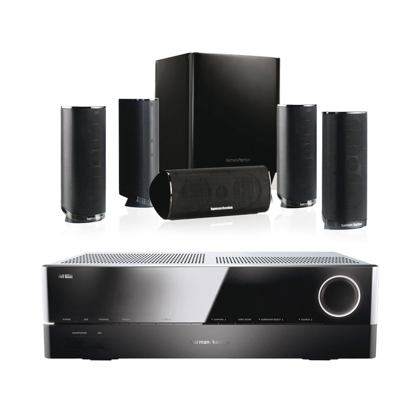 harman kardon avr 161s hkts 16 noir ensemble home cin ma harman kardon sur. Black Bedroom Furniture Sets. Home Design Ideas