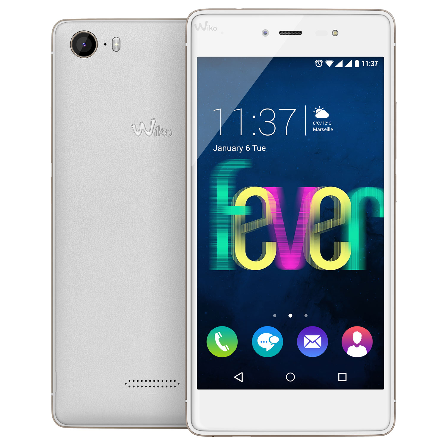 Wiko Fever 4g Blanc Or Mobile Amp Smartphone Wiko Sur Ldlc Com