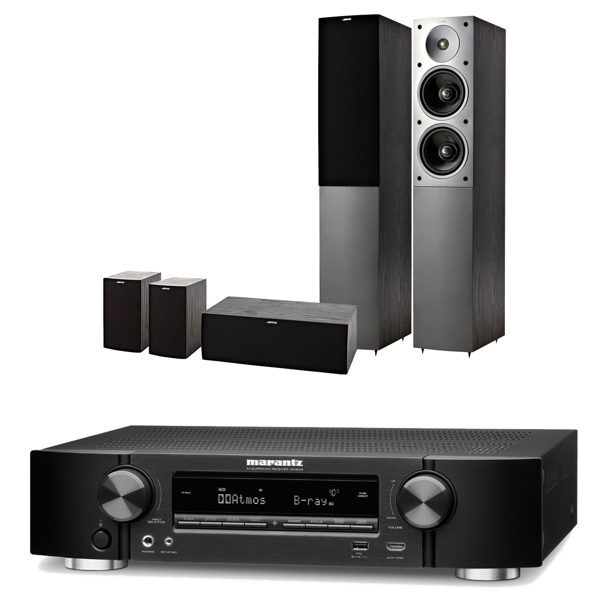 marantz nr1606 noir jamo s 506 hcs 3 hg ensemble home cin ma marantz sur. Black Bedroom Furniture Sets. Home Design Ideas
