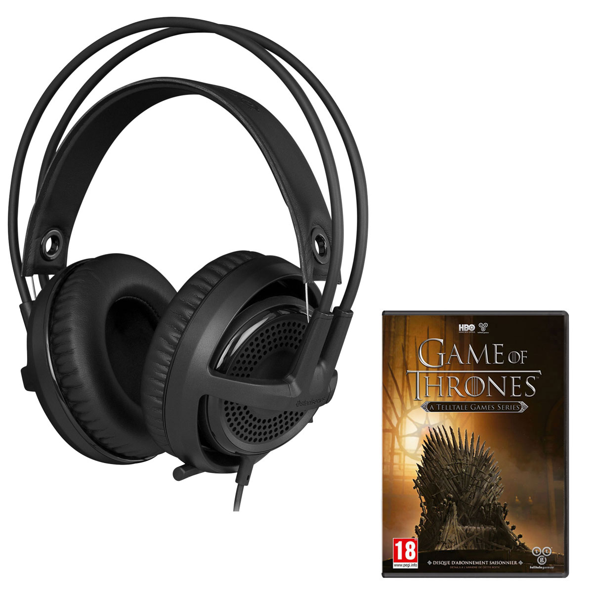 steelseries siberia v3 noir game of thrones pc. Black Bedroom Furniture Sets. Home Design Ideas