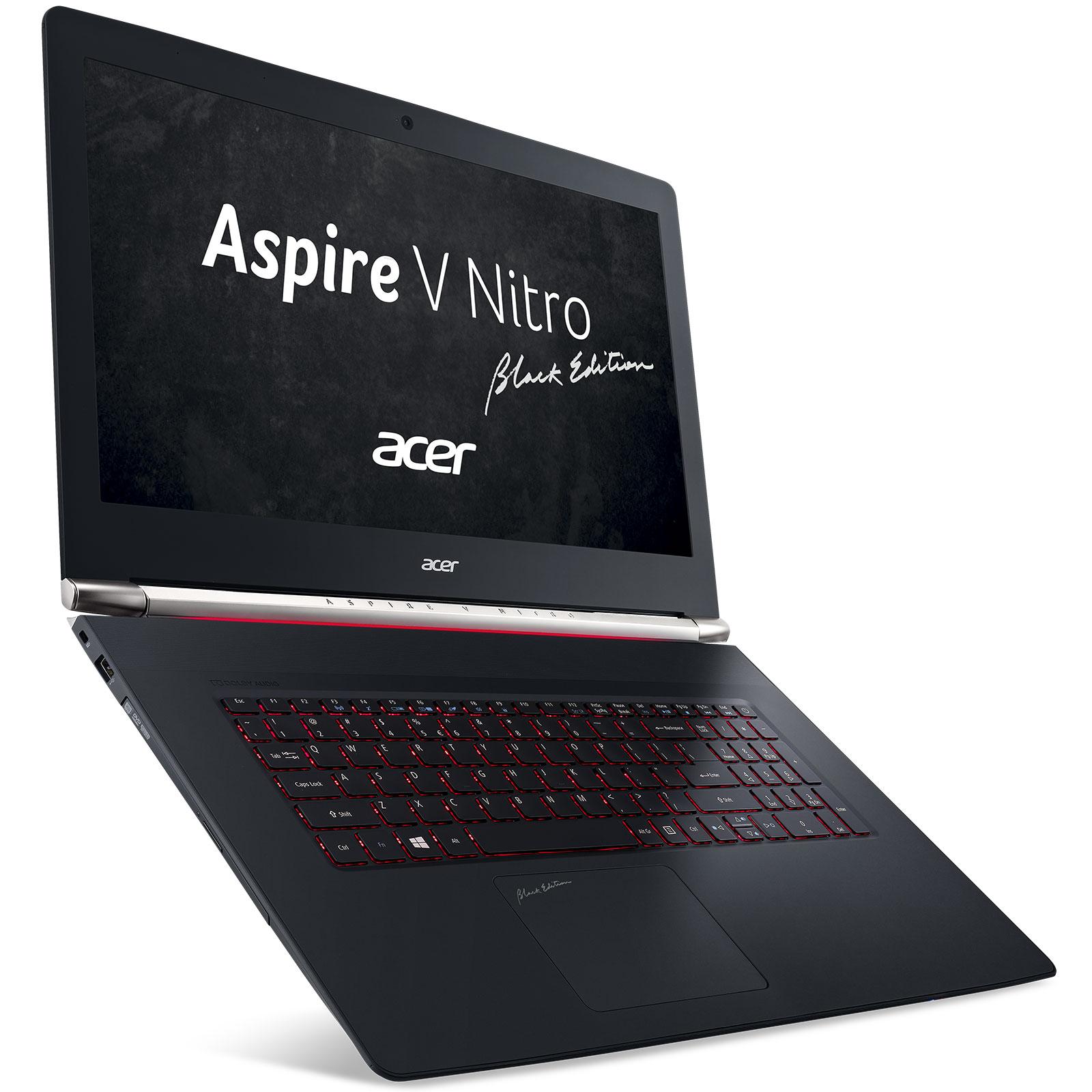 "PC portable Acer Aspire V Nitro VN7-792G-78CC Black Edition Intel Core i7-6700HQ 8 Go SSD 128 Go + HDD 1 To 17.3"" LED Full HD NVIDIA GeForce GTX 960M Wi-Fi AC/Bluetooth Webcam Windows 10 Famille 64 bits"