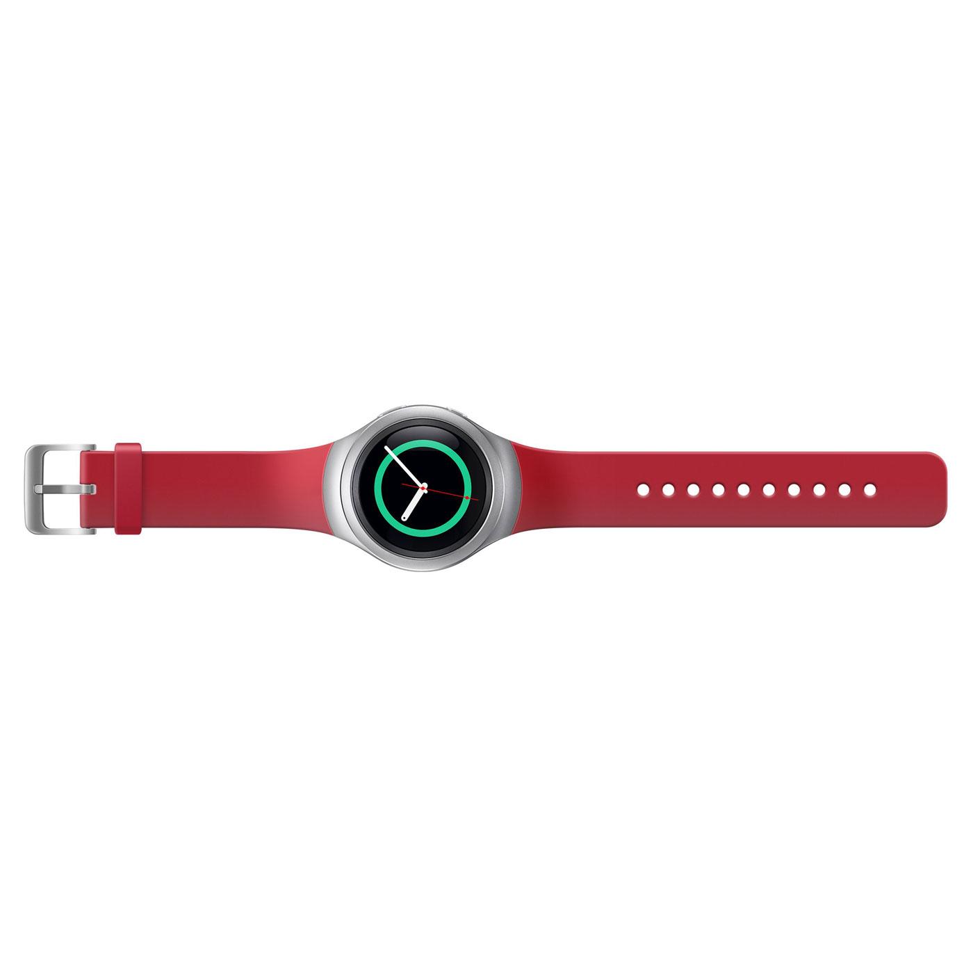 samsung bracelet gear s2 m rouge montre connect e samsung sur. Black Bedroom Furniture Sets. Home Design Ideas