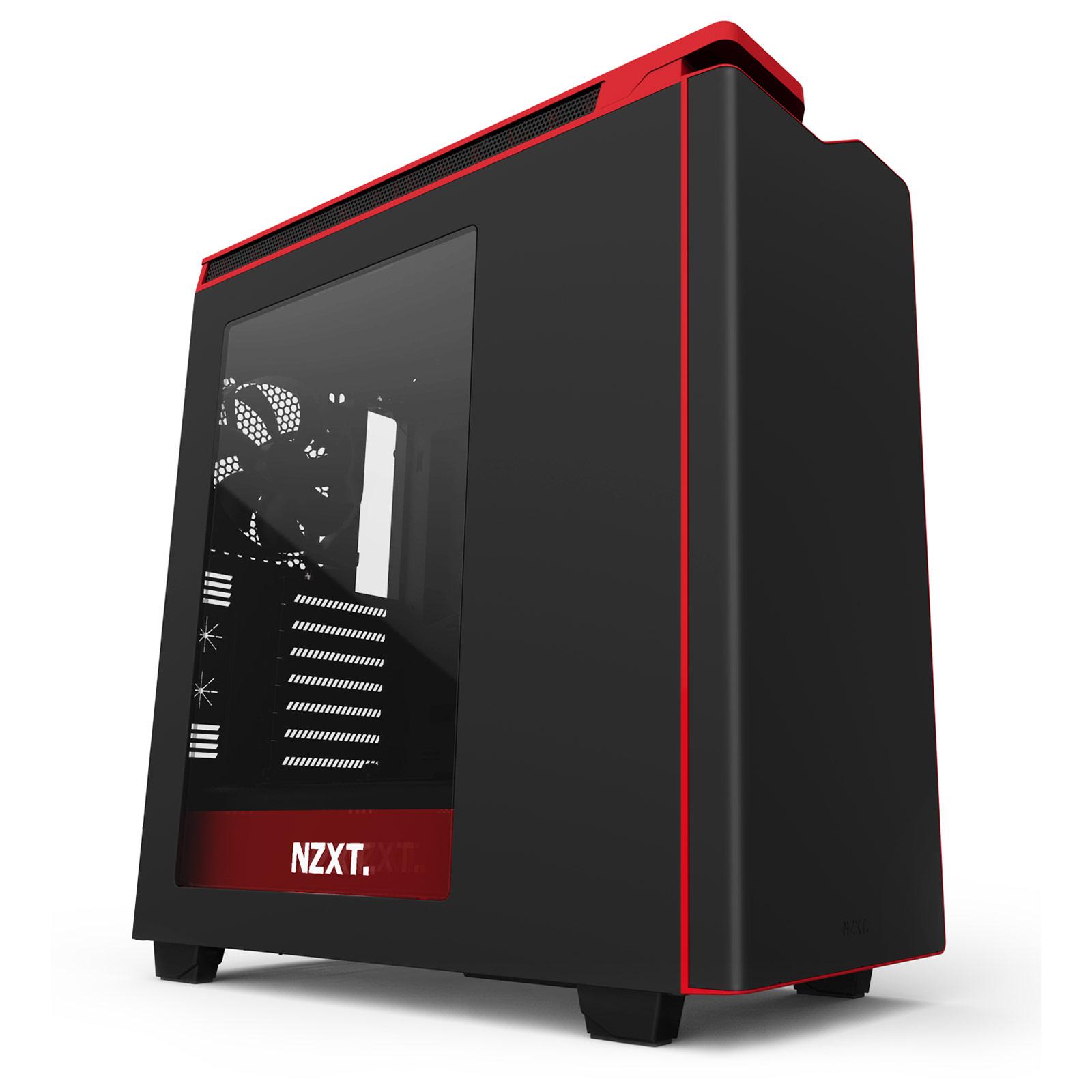 Boîtier PC NZXT H440 (noir/rouge) Boîtier moyen tour avec fenêtre latérale